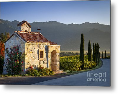 Vineyard Prayer Chapel Metal Print by Brian Jannsen