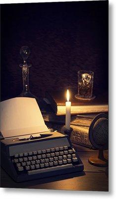 Vintage Typewriter Metal Print by Amanda And Christopher Elwell