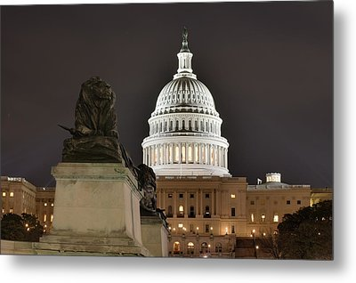 Washington Dc - Us Capitol - 01131 Metal Print by DC Photographer