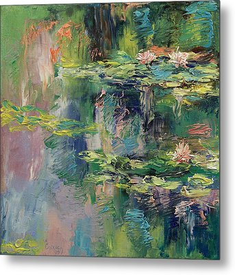 Water Lilies Metal Print by Michael Creese