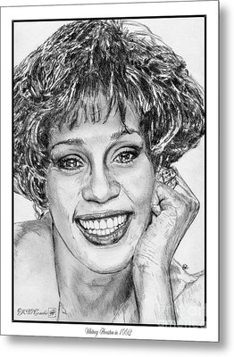 Whitney Houston In 1992 Metal Print by J McCombie