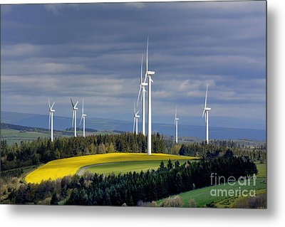 Wind Turbines Metal Print by Bernard Jaubert