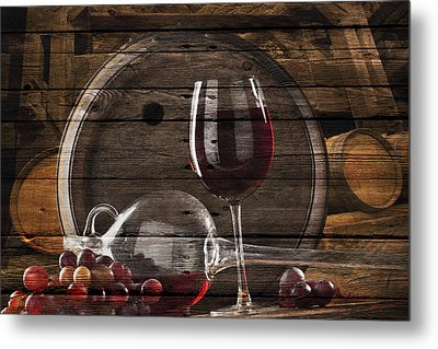 Wine Metal Print by Joe Hamilton