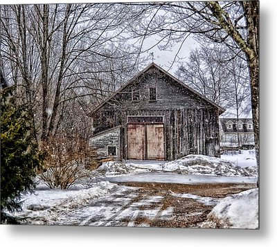 Winter At The Farm Metal Print by Tricia Marchlik