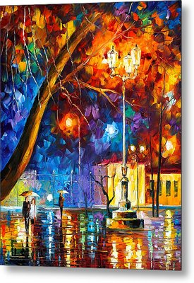 Winter Rain Metal Print by Leonid Afremov