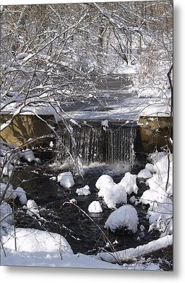 Winter Waterfall Metal Print by Patricia McKay