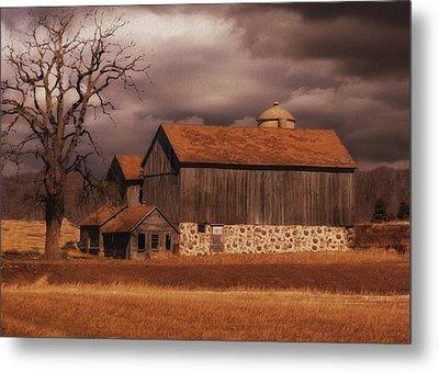 Wisconsin Barn Metal Print by Jack Zulli