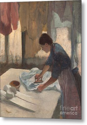 Woman Ironing Metal Print by Edgar Degas