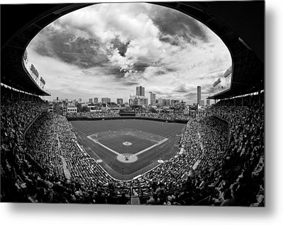 Wrigley Field  Metal Print by Greg Wyatt