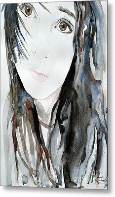 Young Girl Metal Print by Ismeta Gruenwald