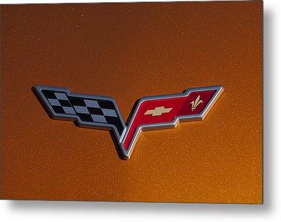 2007 Chevrolet Corvette Indy Pace Car Emblem Metal Print by Jill Reger