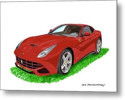 2012 F12 Ferrari Berlinetta Gt Metal Print by Jack Pumphrey
