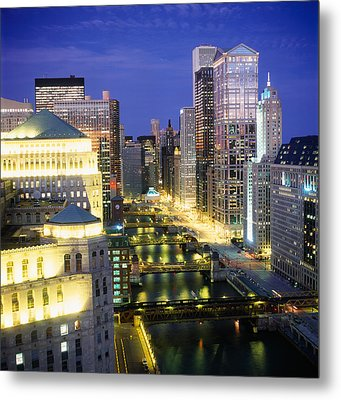 Buildings At The Waterfront Metal Print by Panoramic Images