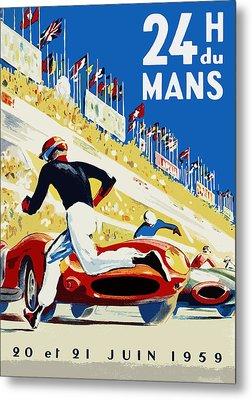 24 Hour Le Mans 1959 Metal Print by Mark Rogan