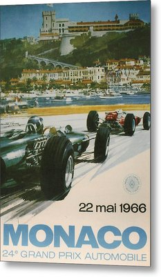 24th Monaco Grand Prix 1966 Metal Print by Georgia Fowler