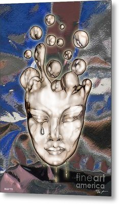 24x36 Misery 220 Metal Print by Dia T