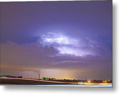 25 To 34 Intra-cloud Lightning Thunderstorm Metal Print by James BO  Insogna
