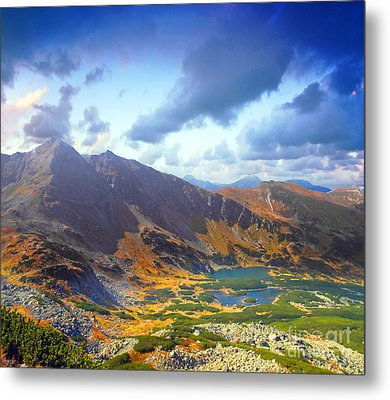 Mountains Landscape Metal Print by Michal Bednarek