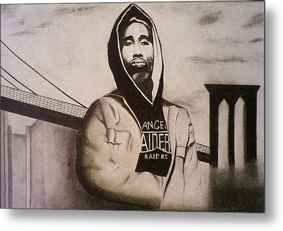 2pac Metal Print by Aileen Carruthers