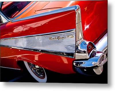 1957 Chevy Bel Air Custom Hot Rod Metal Print by David Patterson