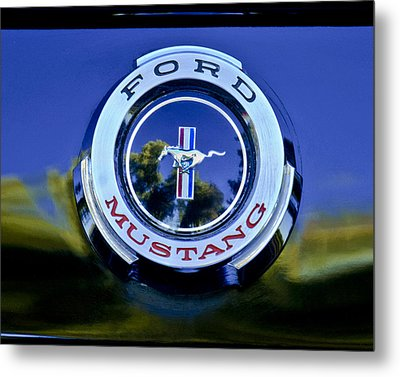 1965 Shelby Prototype Ford Mustang Emblem Metal Print by Jill Reger