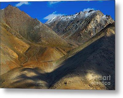 Aerial View Of Ladakh Landscape Metal Print by Rudra Narayan  Mitra