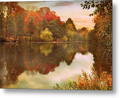 Autumn's Mirror Metal Print by Jessica Jenney