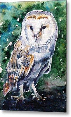 Barn Owl Metal Print by Kovacs Anna Brigitta