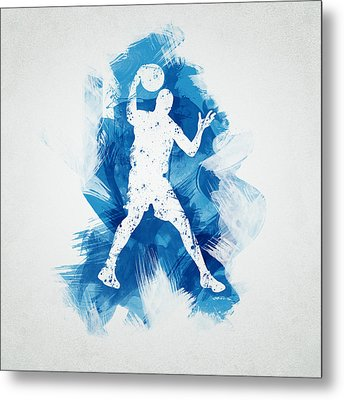 Basketball Player Metal Print by Aged Pixel