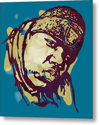 Biggie Smalls Modern Colour Etching Art  Poster Metal Print by Kim Wang