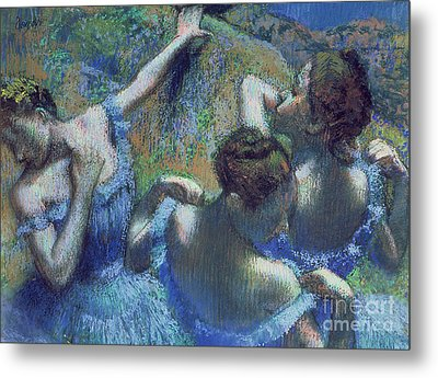 Blue Dancers Metal Print by Edgar Degas