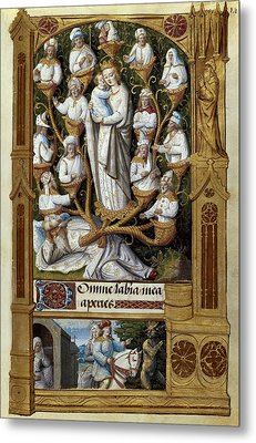 Book Of Hours For Charles V. 16th C Metal Print by Everett