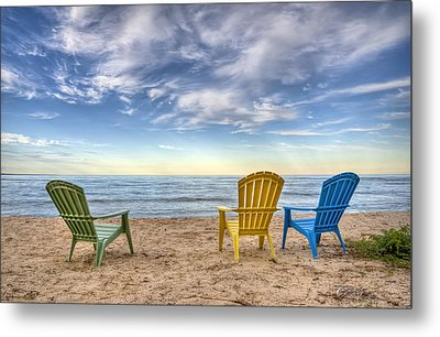 3 Chairs Metal Print by Scott Norris