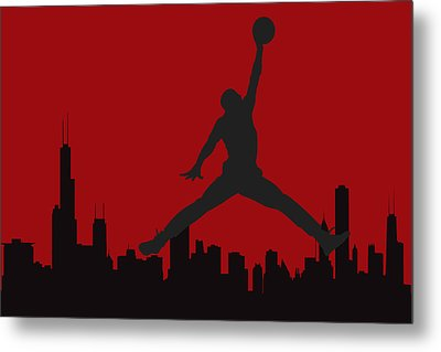 Chicago Bulls Metal Print by Joe Hamilton