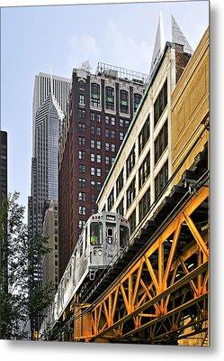 Chicago Loop 'l' Metal Print by Christine Till
