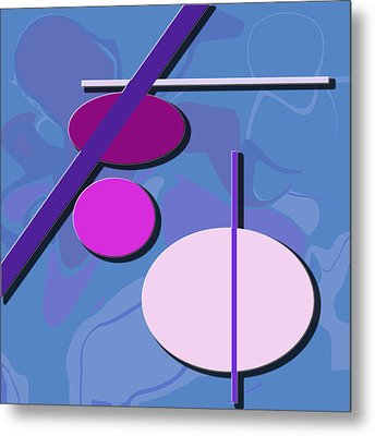 3 Circle And 3 Lines 1 Metal Print by Kristy Jeppson