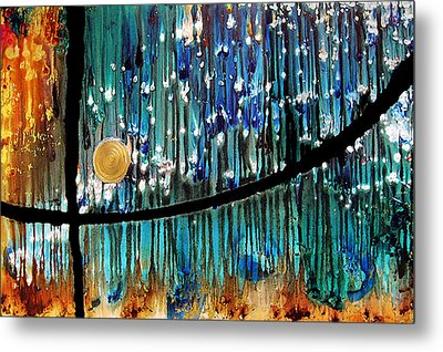 Colorful Abstract Metal Print by Sharon Cummings