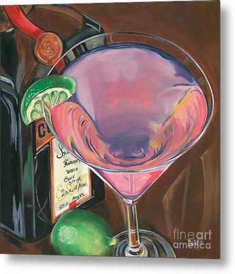 Cosmo Martini Metal Print by Debbie DeWitt