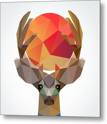 Deer Metal Print by Mark Ashkenazi