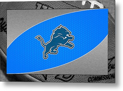 Detroit Lions Metal Print by Joe Hamilton