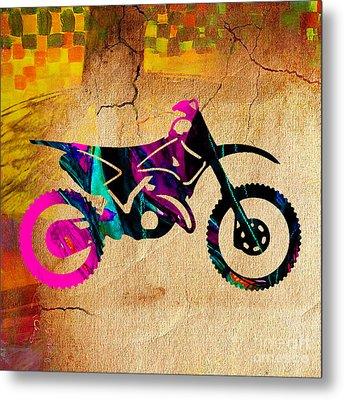 Dirt Bike Art Metal Print by Marvin Blaine