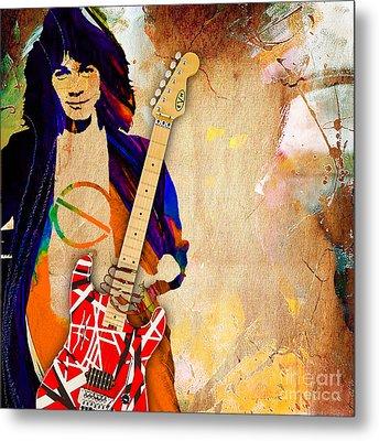 Eddie Van Halen Special Edition Metal Print by Marvin Blaine