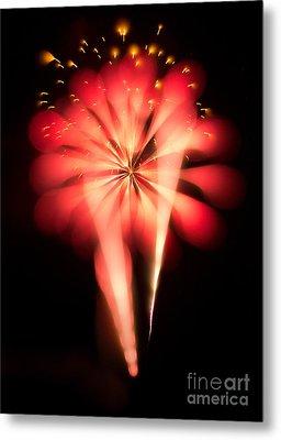 Fireworks Art Metal Print by Benjamin Simeneta