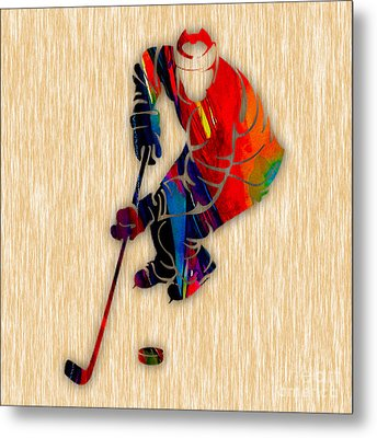 Hockey Metal Print by Marvin Blaine