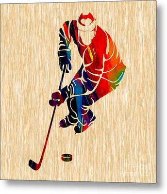 Ice Hockey Metal Print by Marvin Blaine