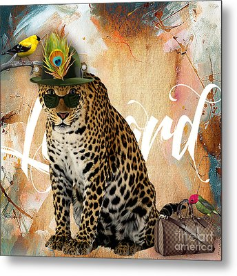 Leopard Collection Metal Print by Marvin Blaine
