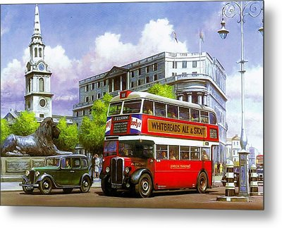 London Transport Stl Metal Print by Mike  Jeffries