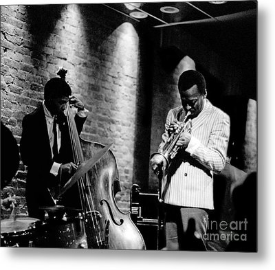 Miles Davis And Buster Williams At The Penthouse Metal Print by Dave Coleman
