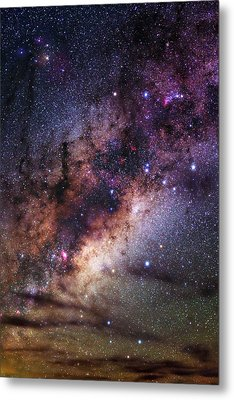 Milky Way Over The Atacama Desert Metal Print by Babak Tafreshi