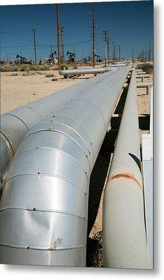 Natural Gas Pipelines Metal Print by Jim West